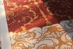 French Damask Custom Printed For Paper Backing