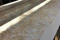 Custom Printing Corn Damask Pearlised Wallpaper