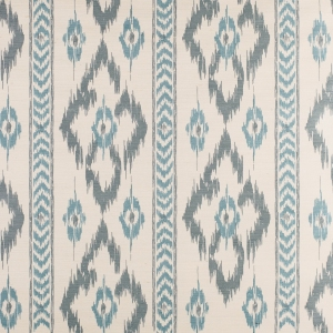 Chevron Diamond on Sisal Paper - Egyptian Blue