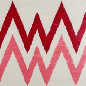 Twin Peaks on Sisal Wallpaper - Pink and Burgundy
