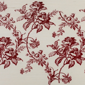 Turnbury on Sisal Wallpaper - Burgundy