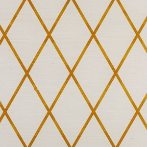 Trellis on Sisal Wallpaper - Gold