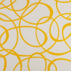 Wrought Iron on Sisal Wallpaper - Yellow
