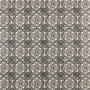 Vence on Sisal Wallpaper - Black