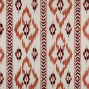 Chevron Diamond on Sisal Wallpaper - Terracotta and Brown