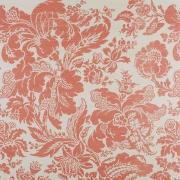 Preston Damask on Sisal Wallpaper - Salmon Pink