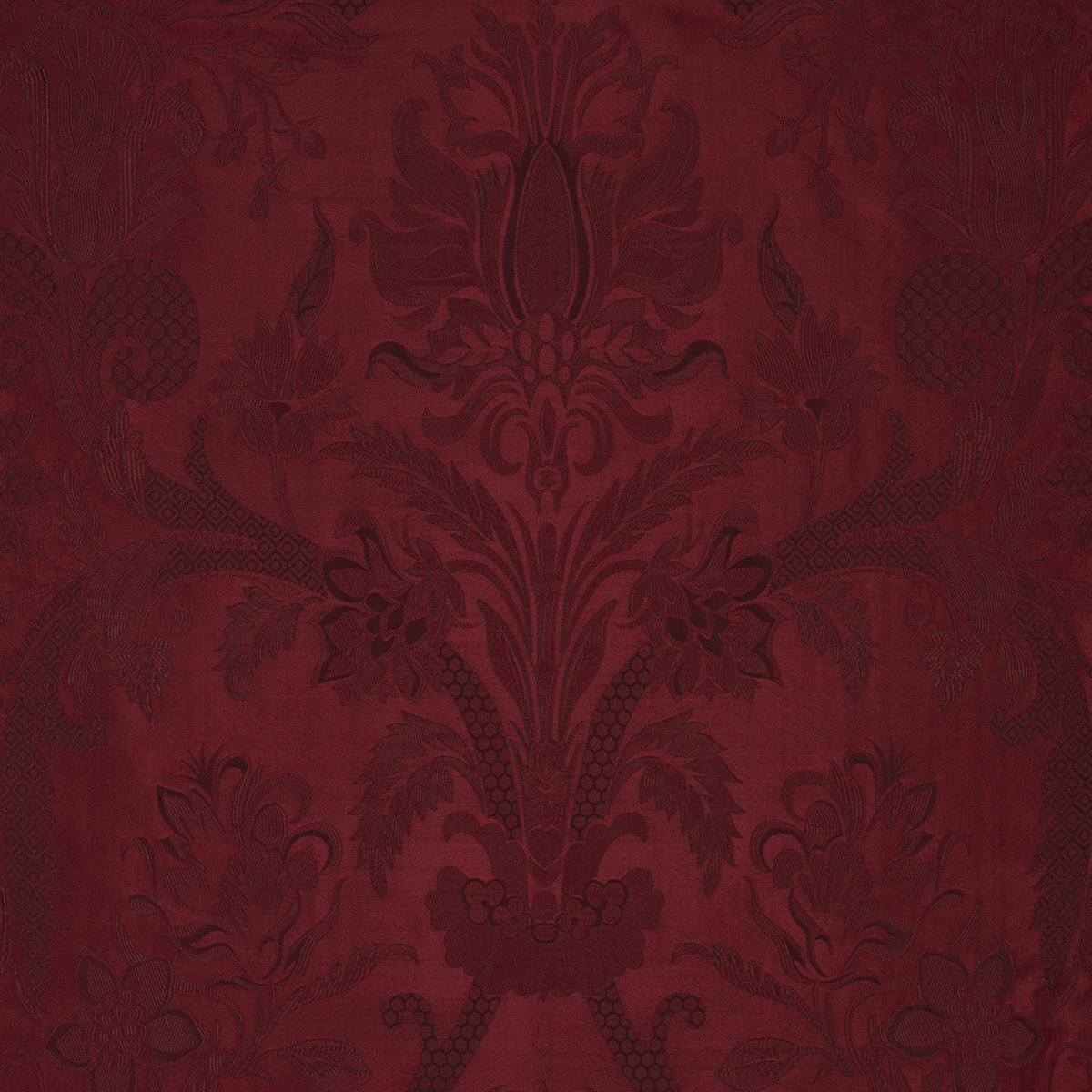 Photo collection damask burgundy fabric for Burgundy wallpaper