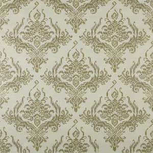 Ikat damask on Sisal Wallpaper