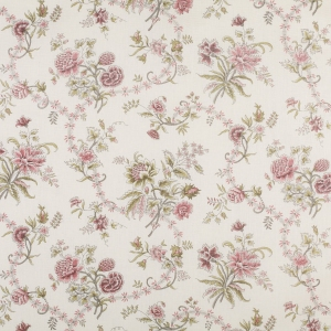 Christine - Pink Green & Grey - Classic Linen - Oyster