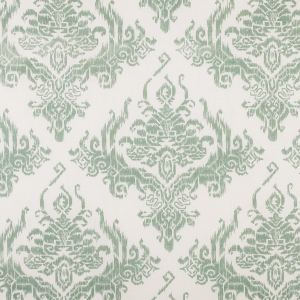 Ikat Damask on Chelsea Linen - Green