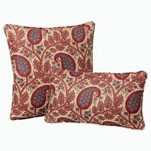 Physic - Classic Linen In Pink and Blue - Throw Cushion / Pillow