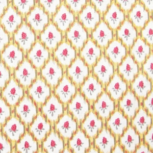 Quadrille on Classic Linen-Oyster-Gold & Pink