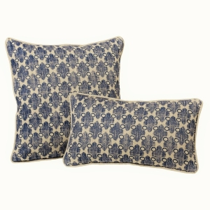 Tiburon - Hopsack Linen In Blue - Large & Small Cushions