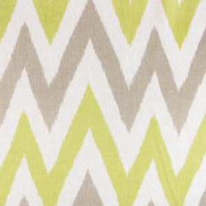 Twin Peaks on Oskar Natural Linen-Wild Ecru-Lime Green, Grey