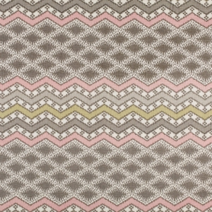 Lindi Pink and Grey on Classic Ivory Linen