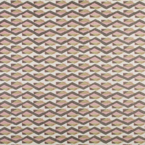 Bahari - Pink and Grey on Classic Ivory Linen