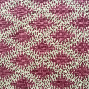 Lindi Diamond on natural hopsack linen Col 130 Quarter