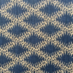 Lindi Diamond on natural hopsack linen Col 186