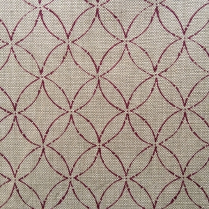 Minoru Medium on natural hopsack linen Col 130 Quarter