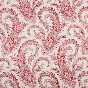 PALME - RED & TAUPE - CLASSIC LINEN OYSTER