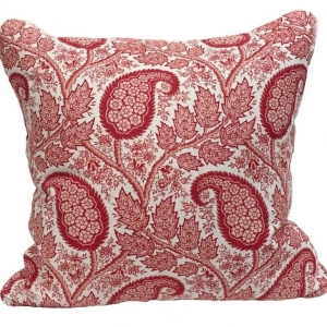 Physic Linen Cushion Large - Red