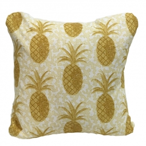 Pineapple on Coral Cushion Large - Yellow (2)