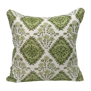 Yamuna Linen Cushion Large - Green