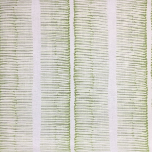 Cornwall Stripe on Chelsea Linen - Colour 331 Greenery