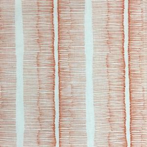 Cornwall Stripe on Chelsea Linen - Colour 333 Flame