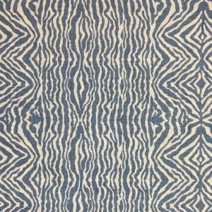 Grevy's Zebra Stripe on Chelsea Linen - Colour 334 Niagra