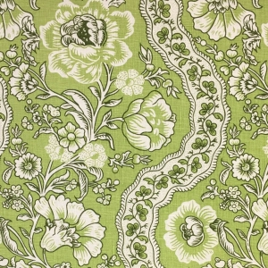 Antoinette on Chelsea Linen - Colour 331 Greenery & Kale (2)