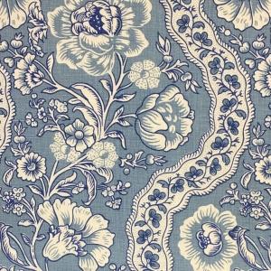 Antoinette on Chelsea Linen - Niagara Blue