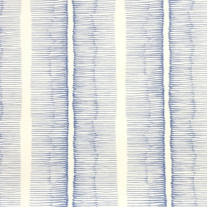 Cornwall Stripe Wallpaper - Lapis Blue
