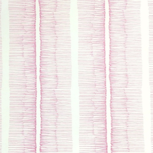 Cornwall Stripe Wallpaper - Pink Yarrow