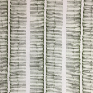 Cornwall Stripe on Chelsea Linen - Kale 336