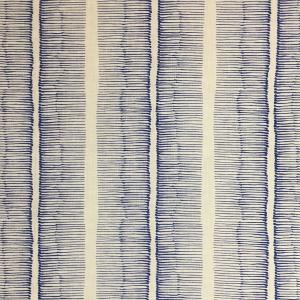 Cornwall Stripe on Chelsea Linen - Lapis Blue 337