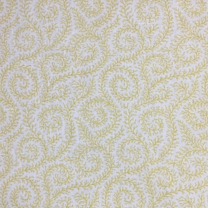 Downton Ivy on Chelsea Linen - Primrose Yellow