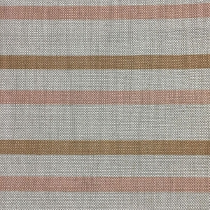 Empire Stripe C&C - Natural Hopsack Linen - Hazelnut & Pale Dogwood