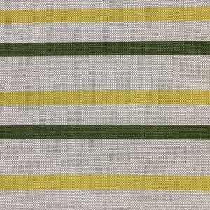 Empire Stripe C&C - Natural Hopsack Linen - Kale & Primrose Yellow