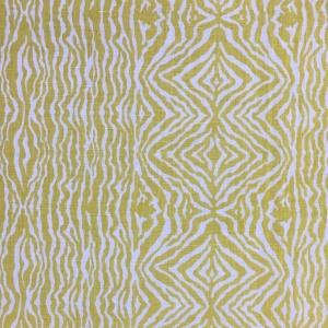 Greevy's Zebra Stripe on Chelsea Linen - Primrose Yellow 332