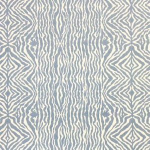 Grevy's Zebra Stripe Wallpaper - Niagara Blue