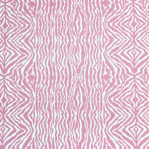 Grevy's Zebra Stripe Wallpaper - Pink Yarrow
