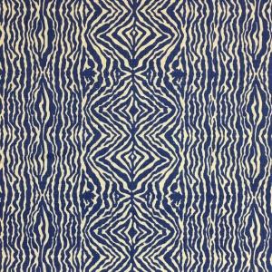 Grevy's Zebra Stripe on Chelsea Linen - Lapis Blue 337