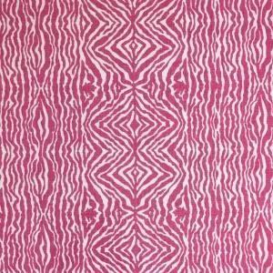 Grevy's Zebra Stripe on Chelsea Linen - Pink Yarrow 75