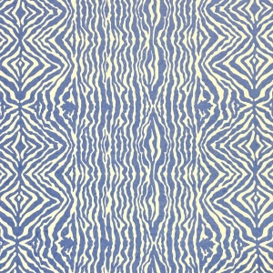 Grevy's Zebra Wallpaper - Lapis Blue