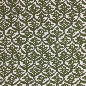 Kate Trellis on Chelsea Linen - Kale 336