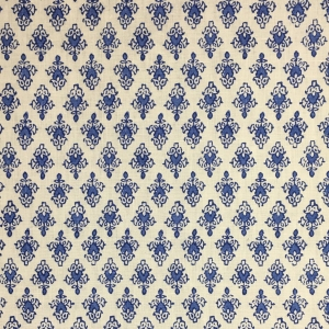 Mahal on Chelsea Linen - Lapis Blue 337 & 337 Qtr
