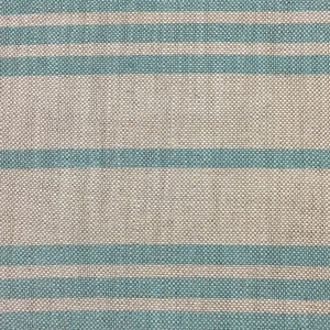 Regent Stripe on Natural Hopsack Linen - Island Paradise