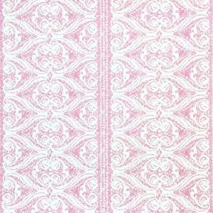 Rustic Alison Border Wallpaper - Pink Yarrow