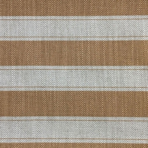 Sandown Stripe on Hopsack Linen - Hazelnut